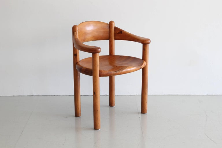 Pine Rare Set of Six Dining Chairs by Rainer Daumiller For Sale