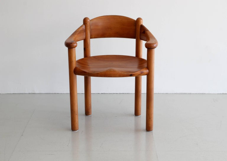 Mid-20th Century Rare Set of Six Dining Chairs by Rainer Daumiller For Sale