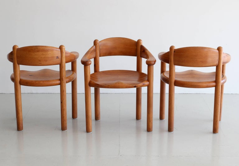 Rare Set of Six Dining Chairs by Rainer Daumiller In Good Condition For Sale In Los Angeles, CA