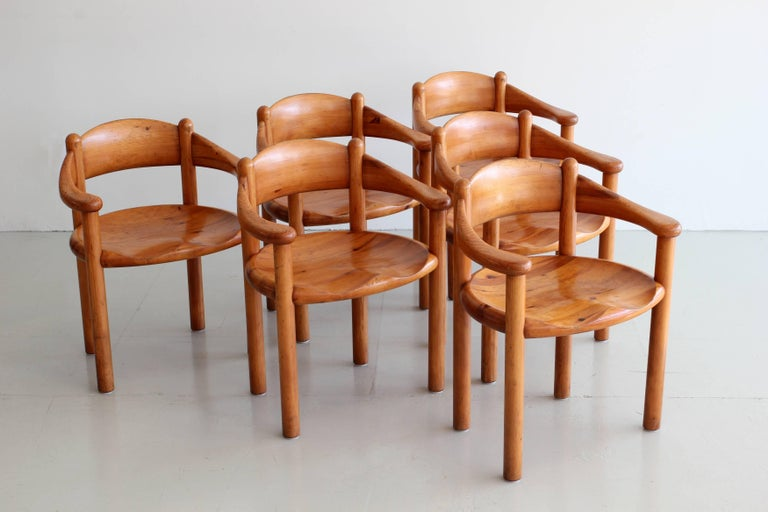 Swedish Rare Set of Six Dining Chairs by Rainer Daumiller For Sale