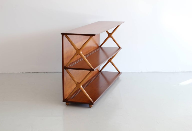 Italian Renzo Rutili Bookcase For Sale