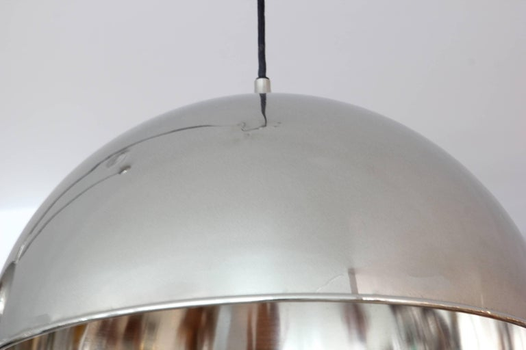 Mid-20th Century Florian Schulz Dome Counter Balance Pendant For Sale