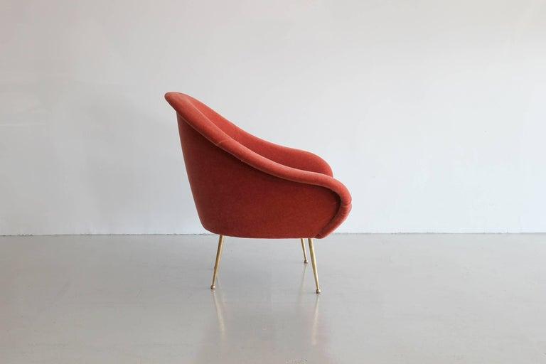 Mohair Italian Lounge Chair  For Sale