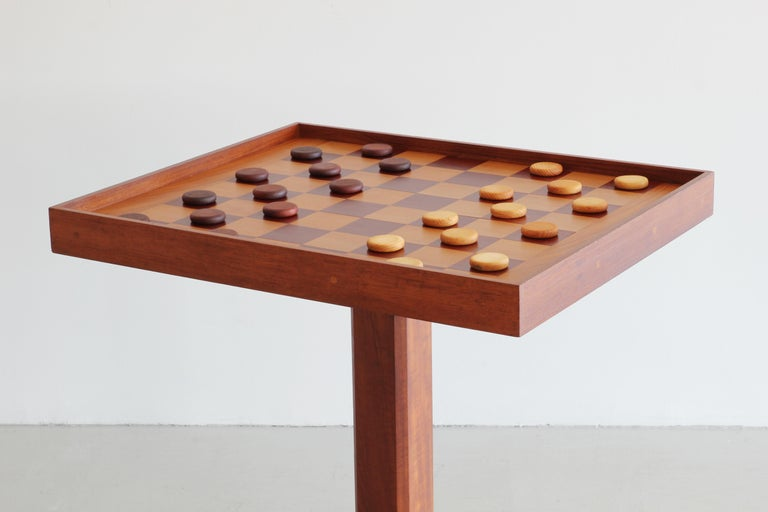 American Artisan Backgammon / Checkerboard Game Table For Sale