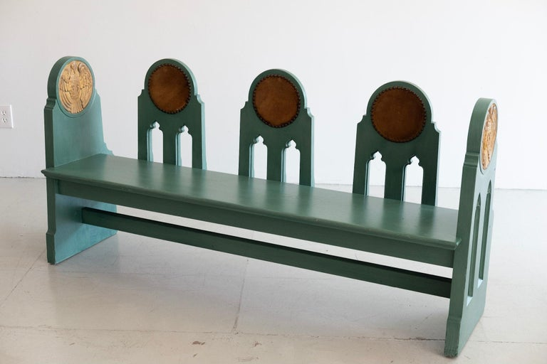 Fraternal Lodge Bench, circa 1930s For Sale 4