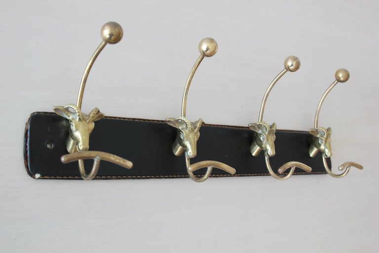 French Jacques Adnet Attributed Coat Rack For Sale