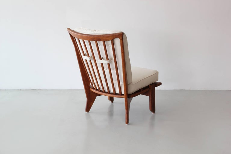 Oak Guillerme and Chambron Lounge Chairs For Sale