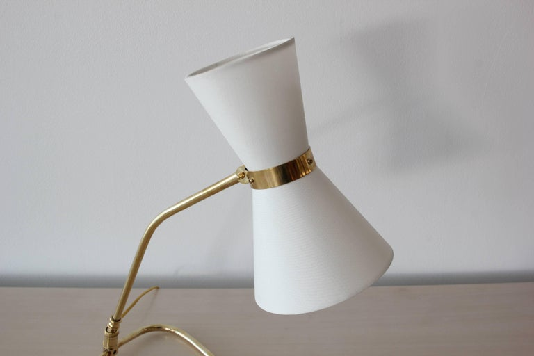 Brass Table Lamp, style of Pierre Guariche For Sale