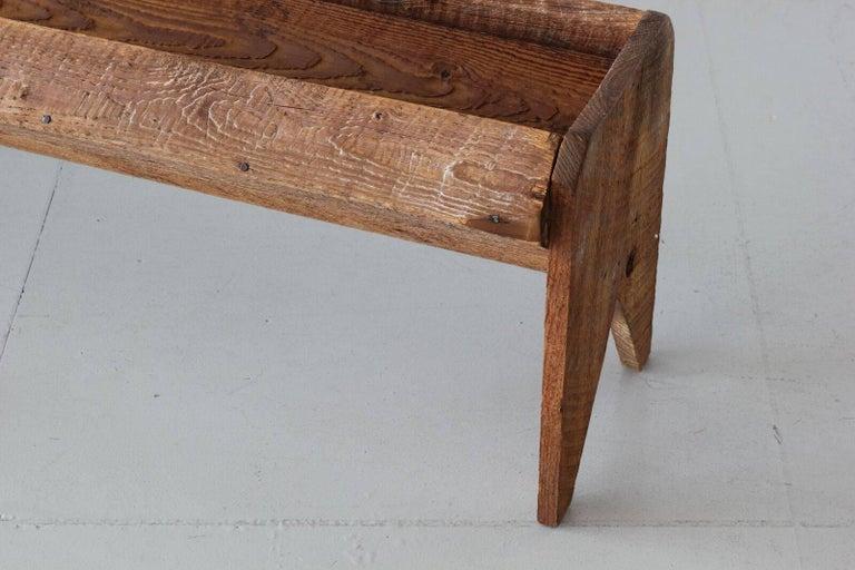 Antique Wood Trough For Sale 1