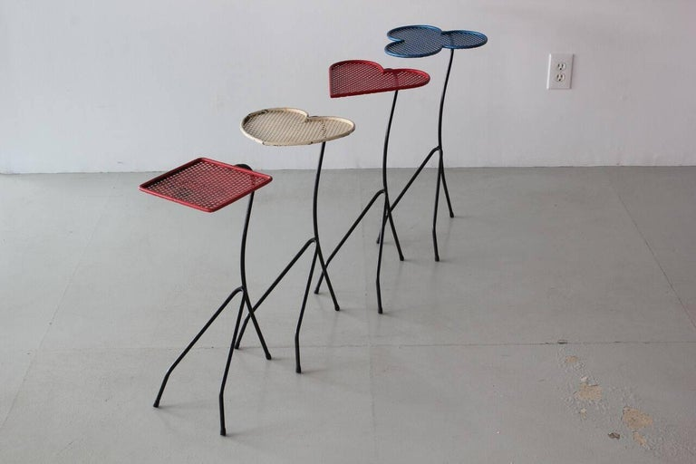 Rare set of nesting tables attributed to Mathieu Matégot