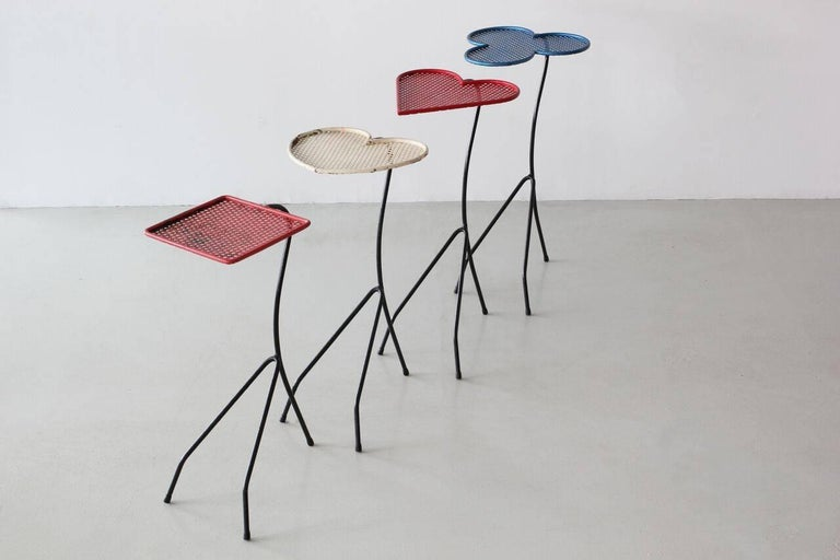 Square of Aces, Nesting Tables Attributed to Mathieu Matégot For Sale 1