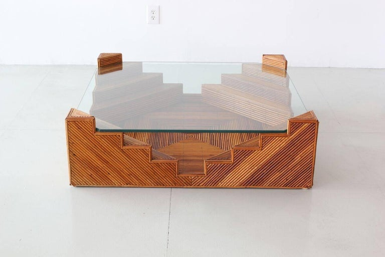 Italian Crespi Style Coffee Table For Sale