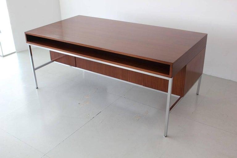 Mahogany Joseph Andre Motte Presidential Desk For Sale