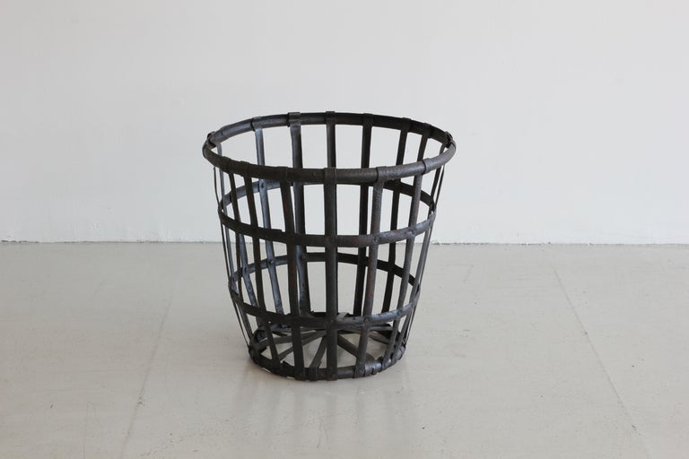 Industrial Iron French Baskets For Sale 1