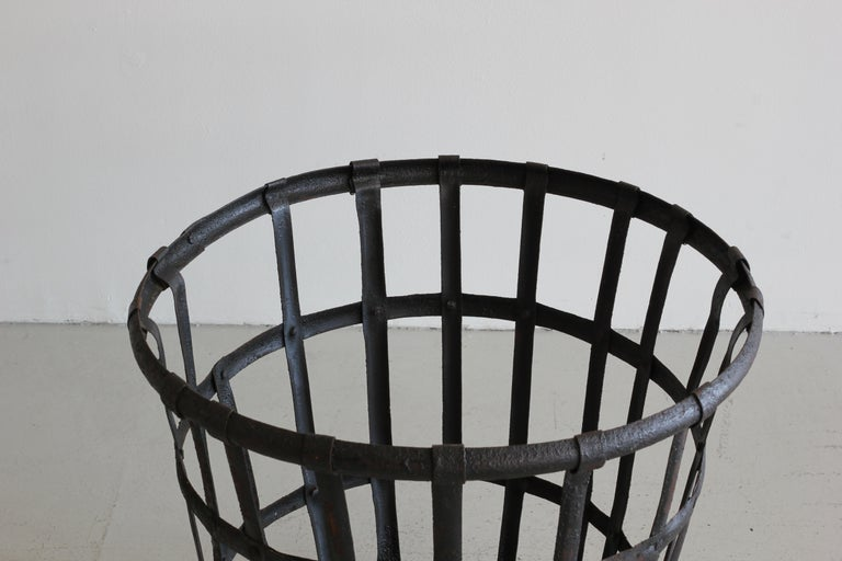 Industrial Iron French Baskets For Sale 2