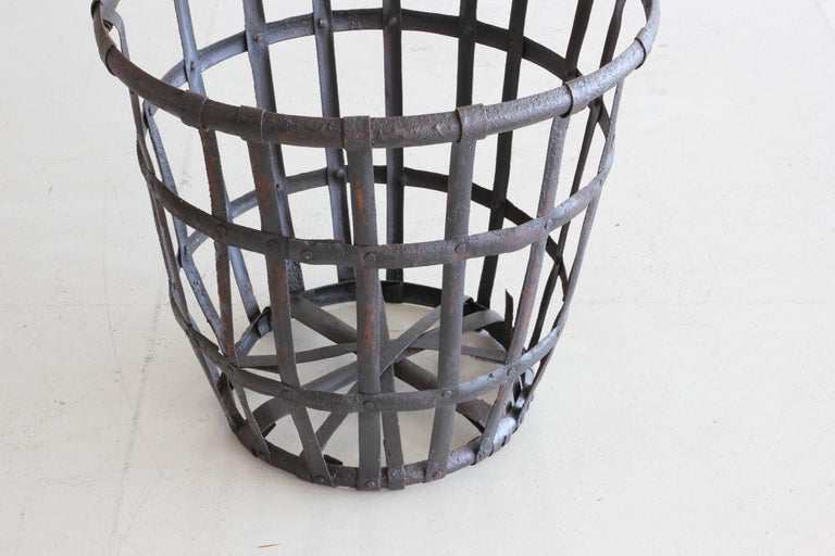 Industrial Iron French Baskets For Sale 3