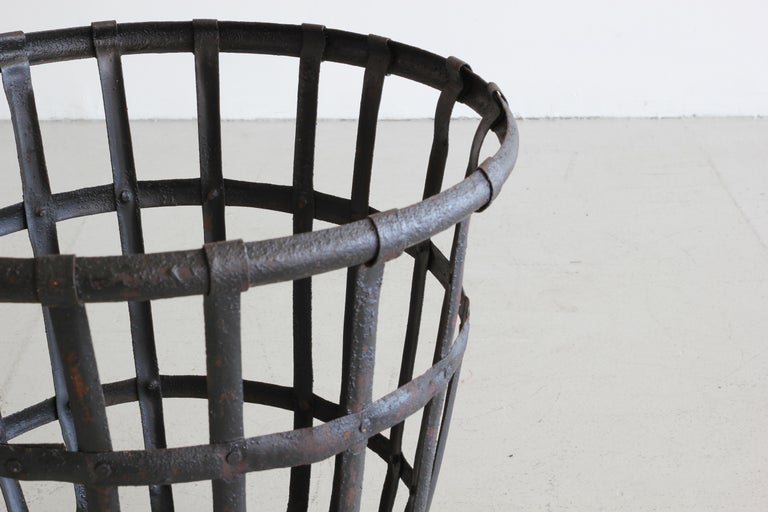 Industrial Iron French Baskets For Sale 4