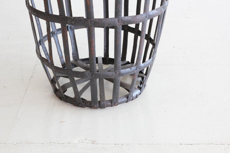Industrial Iron French Baskets For Sale 5