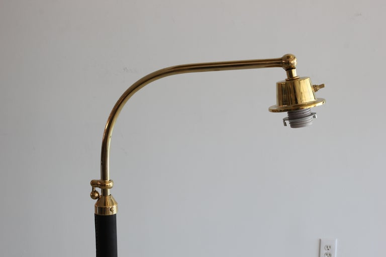 French Floor Lamp in the Style of Jacques Adnet For Sale 3