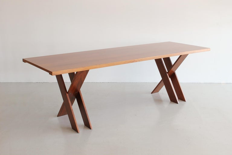 Marco Zanuso Walnut Dining Table for Poggi For Sale