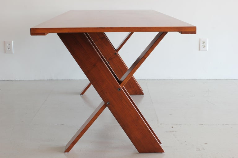 Mid-Century Modern Marco Zanuso Walnut Dining Table for Poggi For Sale
