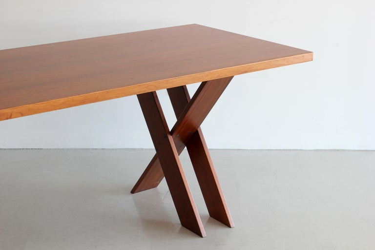 Marco Zanuso Walnut Dining Table for Poggi For Sale 2