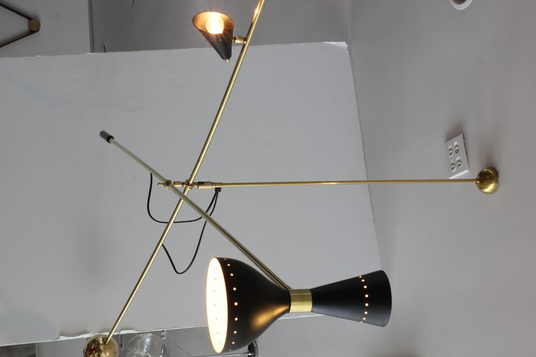 Contemporary Large Scale Architectural Cantilever Stilnovo Style Pendant For Sale