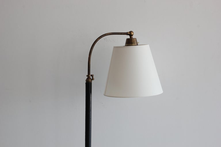 French Telescoping Lamp in Style of Jacques Adnet In Good Condition For Sale In Los Angeles, CA