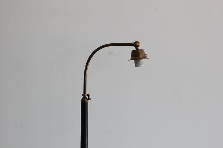 French Telescoping Lamp in Style of Jacques Adnet For Sale 1