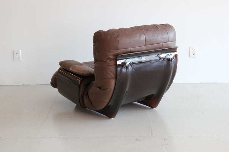 20th Century Pair of Marsala Lounge Chairs by Michel Ducaroy for Ligne Roset For Sale