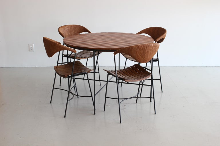 Mid-Century Modern Arthur Umanoff Dining Table and Chairs For Sale