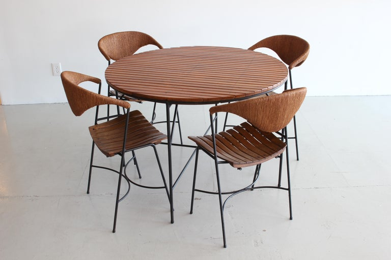 20th Century Arthur Umanoff Dining Table and Chairs For Sale