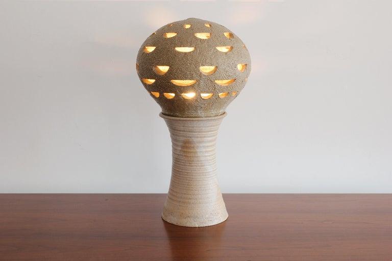 1970s Brutalist Style Ceramic Lamp For Sale