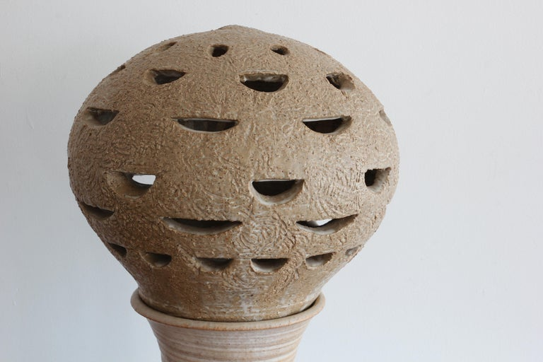 Mid-Century Modern 1970s Brutalist Style Ceramic Lamp For Sale