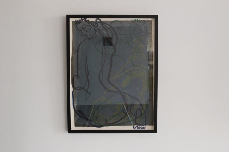 Continuous Line Drawing by Jean Negulesco For Sale