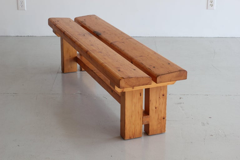Charlotte Perriand Bench In Good Condition For Sale In Los Angeles, CA