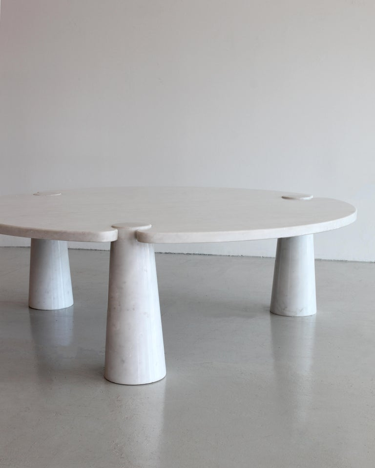 Angelo Mangiarotti Round Marble Eros Coffee Table For Sale 3