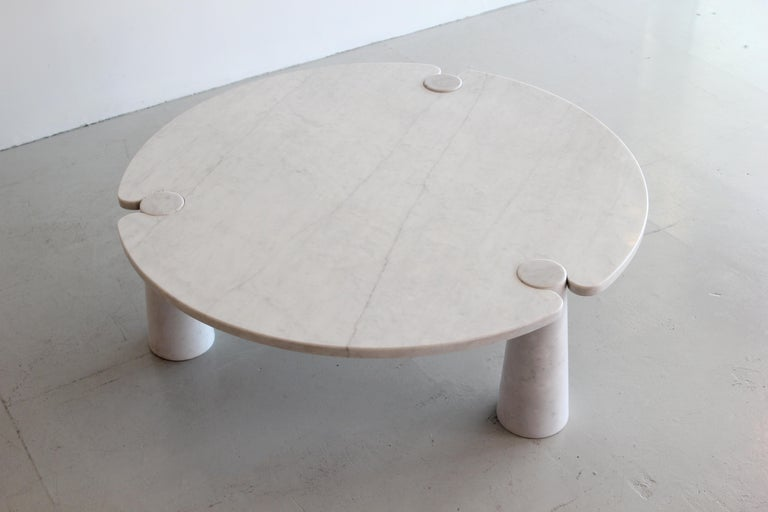 Angelo Mangiarotti Round Marble Eros Coffee Table For Sale 4