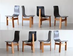 Set of Eight Angelo Mangiarotti Chairs