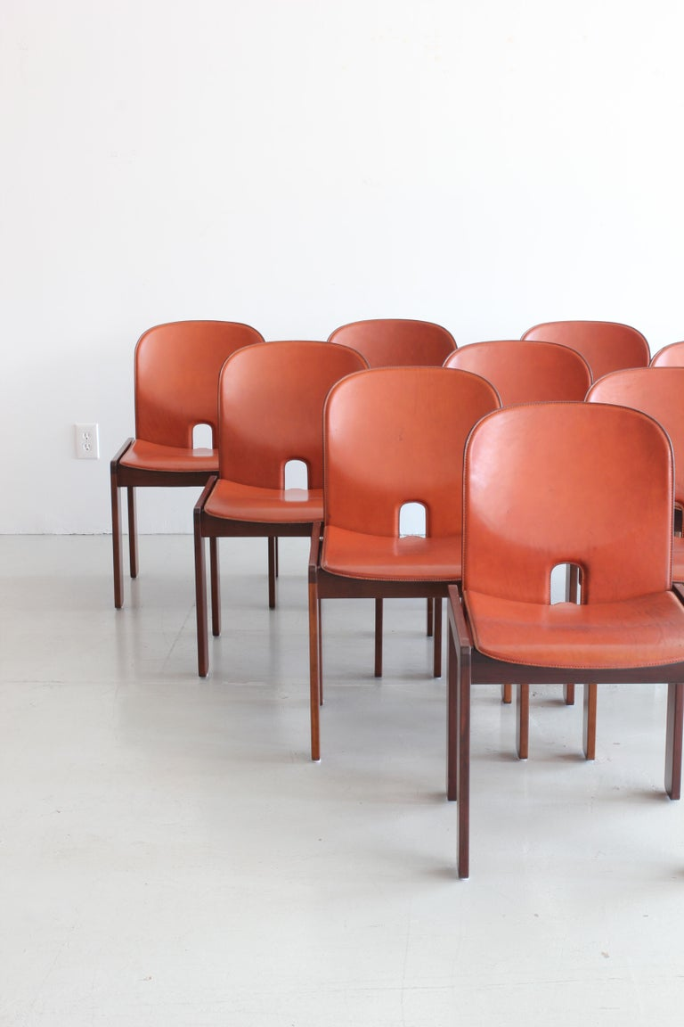 Set of Ten Afra & Tobia Scarpa Dining Chairs For Sale 5