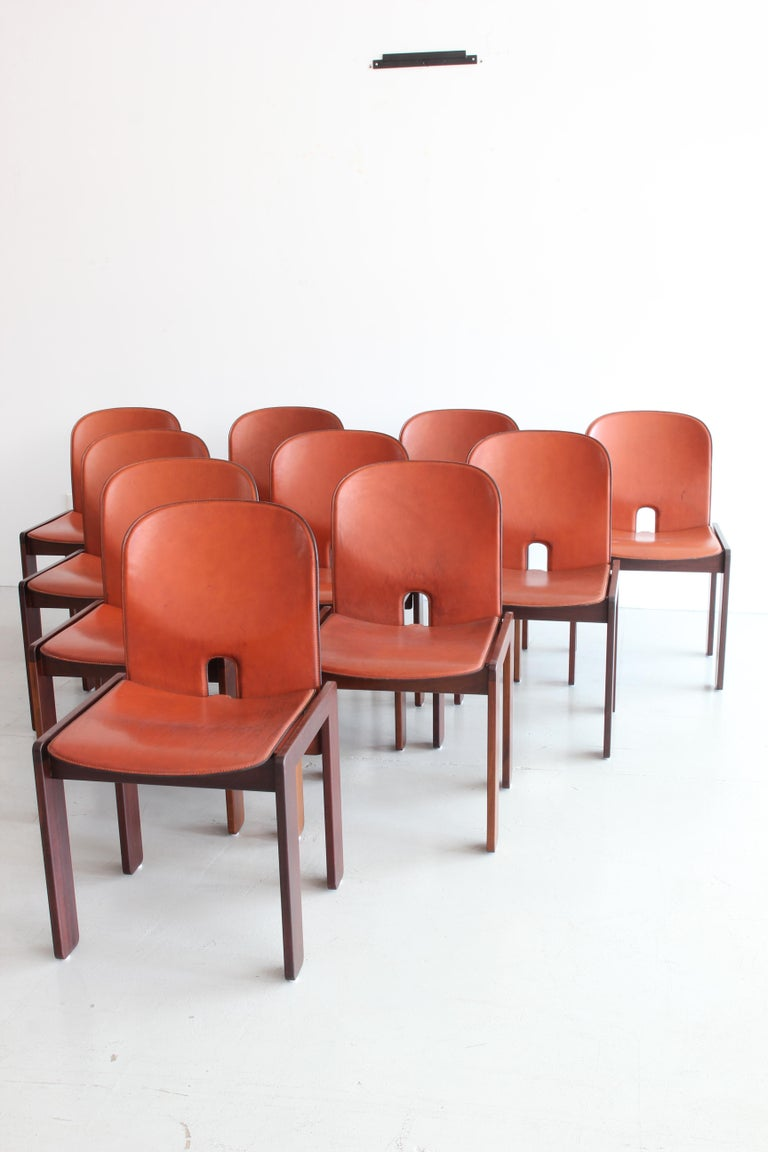 Set of Ten Afra & Tobia Scarpa Dining Chairs For Sale 6