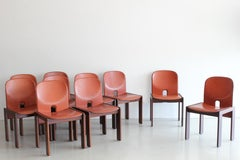Set of Ten Afra and Tobia Scarpa Dining Chairs