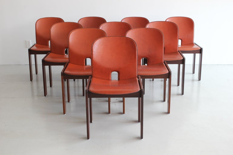 Set of Ten Afra & Tobia Scarpa Dining Chairs For Sale 4