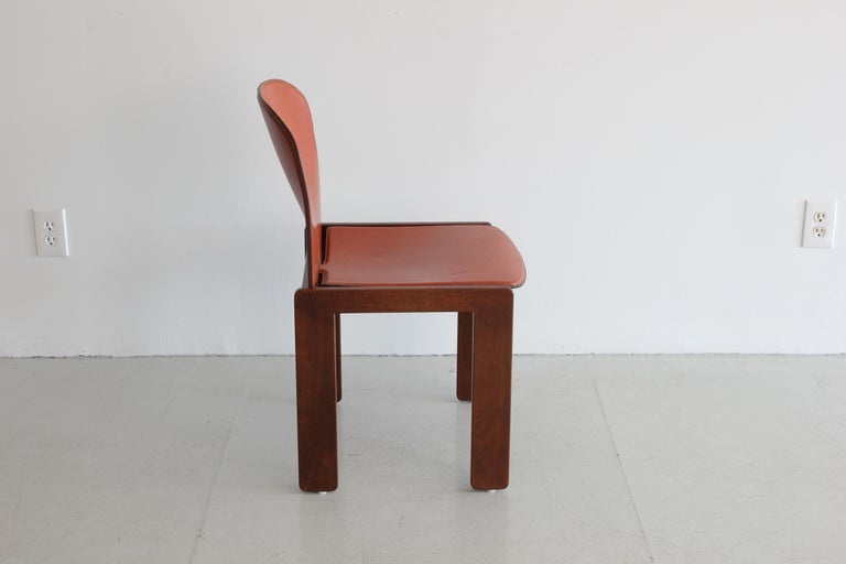 Italian Set of Ten Afra & Tobia Scarpa Dining Chairs For Sale