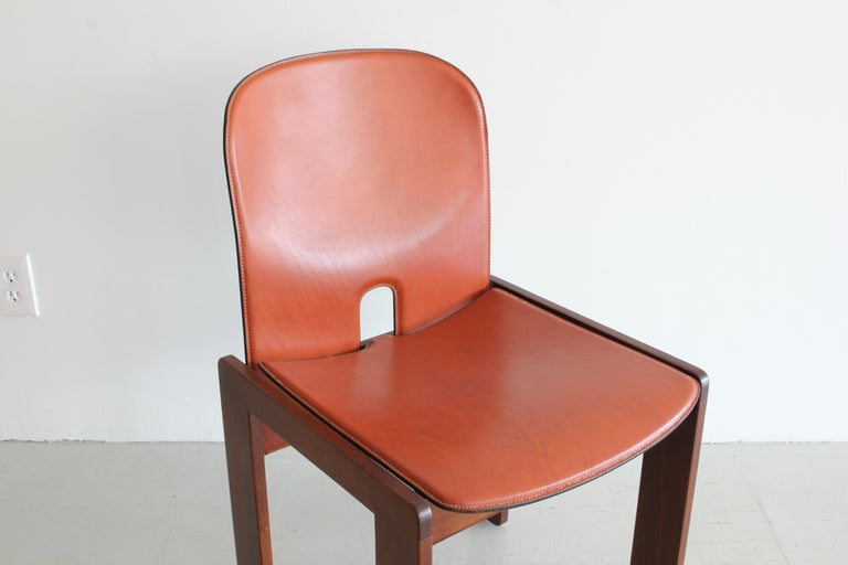 Set of Ten Afra & Tobia Scarpa Dining Chairs For Sale 1