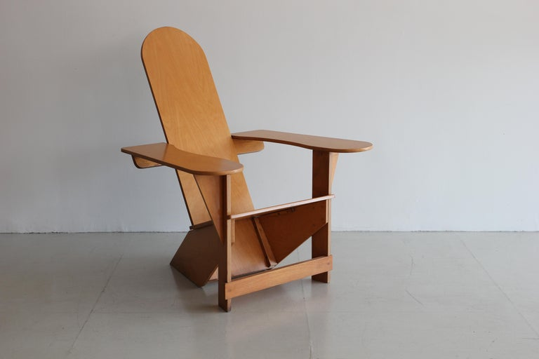 Fantastic Italian Adirondack chair by Pierre Dariel for Poltrona, designed 1926.