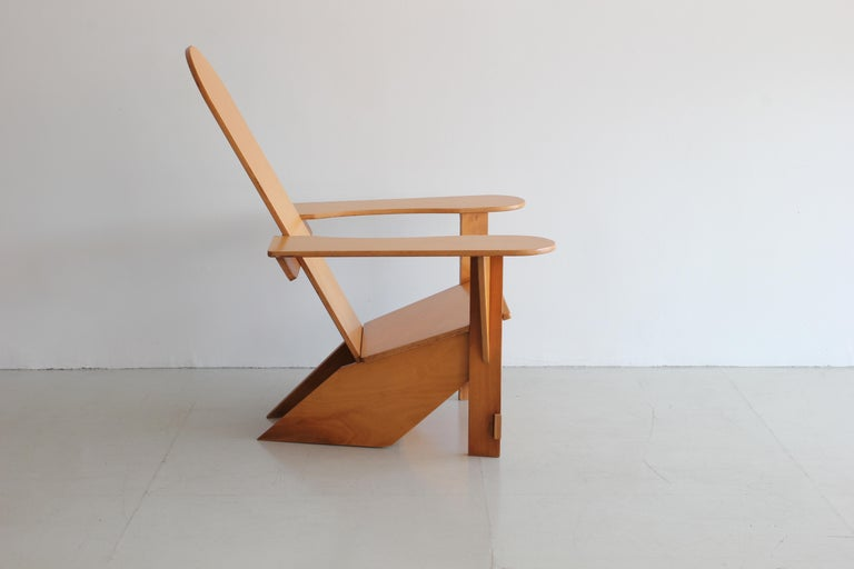 Original Adirondack Chair by Pierre Dariel for Poltrona, ca 1926 In Good Condition For Sale In Los Angeles, CA