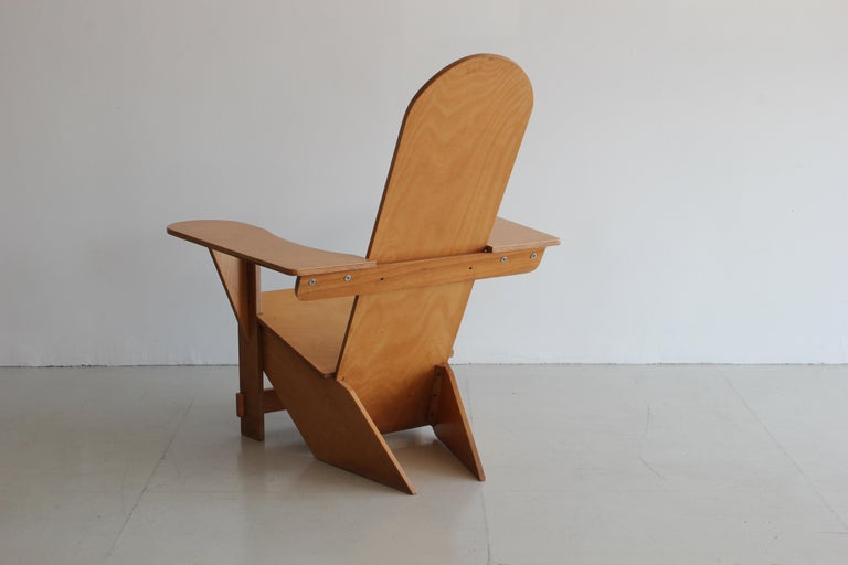 Early 20th Century Original Adirondack Chair by Pierre Dariel for Poltrona, ca 1926 For Sale