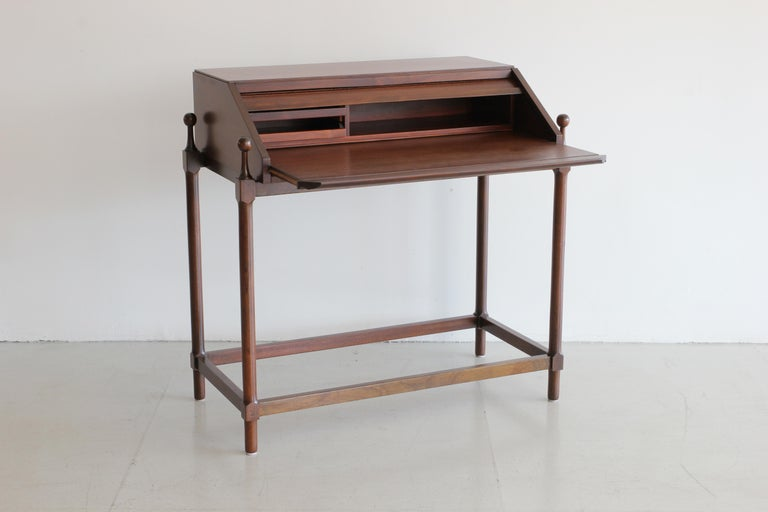 Walnut Secretary Desk by Fratelli Proserpio For Sale