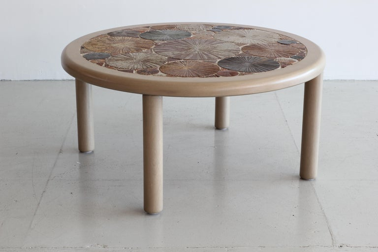 Danish Ceramic Tile Coffee Table by Tue Poulsen For Sale